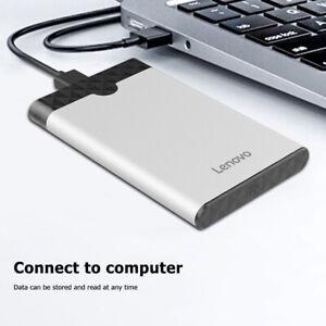 Lenovo-2-5-USB-3-0-Festplattengehaeuse-SATA-Gehaeuse-externe-Festplatte-HDD-SSD