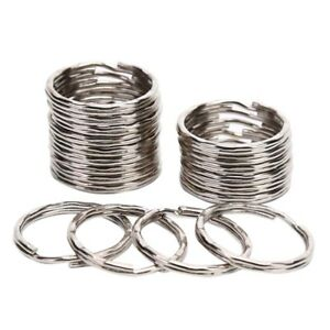 50PCS-Knurling-Round-Key-Chain-Rings-Split-DIY-Key-Rings-Jewelry-Maki-J
