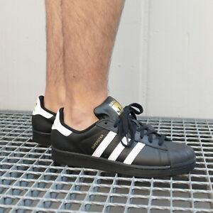 Detalles de Zapatillas de Adidas originals superstar Fundación zapatos zapatillas Unisex negro ver título original