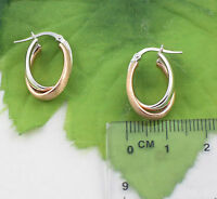 Sassi Ar024rw Ladies 375 9ct Yellow & Rose Gold Fancy Creole Hoop Earrings