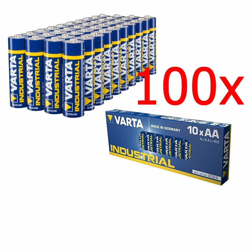 100x Mignon AA / LR6 - Batterie Alkaline, VARTA Made in germany 1,5V, 2950 mAh