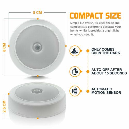 Motion Sensor Cabinet LED Lights Battery PIR Wardrobe Cupboard Light UK 2