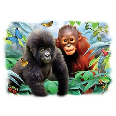 Orangutan & Gorilla Baby HEAT PRESS TRANSFER for T Shirt Sweatshirt Fabric #270b