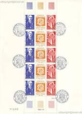 EUROPA CEPT 1990 - ANDORRA FRANZÖSISCH 418-19 DE GAULLE KLEINBOGEN gestempelt