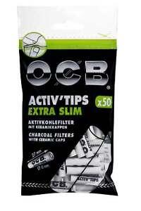 filtri-ai-carboni-attivi-OCB-ACTIV-039-TIPS-EXTRA-SLIM-50pz-6mm-tipo-actitube
