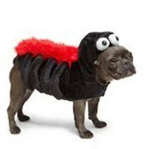 Image is loading Martha-Stewart-Pets-Plush-Black-Spider-Red-fur-  sc 1 st  eBay & Martha Stewart Pets Plush Black Spider Red fur dog Costume Size XS ...