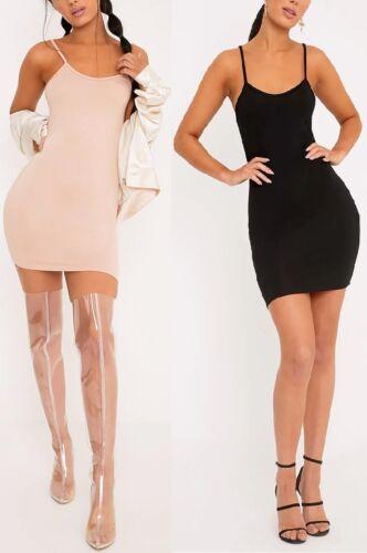 NEW LADIES WOMENS BASIC JERSEY  STRAPPY MINI DRESS SIZE 6,8,10,12,14