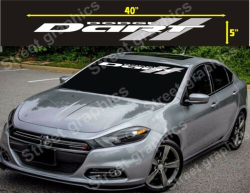 DODGE DART WHITH AND SILVER LANES WINDSHIELD VINYL DECAL STICKER