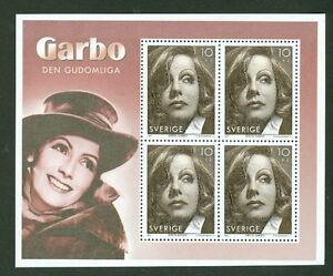 SWEDEN-2517d-2005-Greta-Garbo-Souvenir-Sheet-of-4