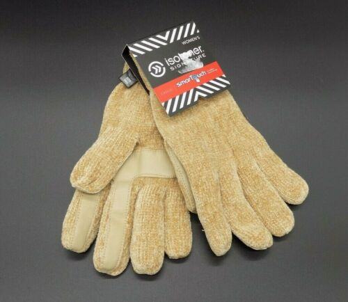 isotoner Signature Gloves Camel or Red Chenille Palm