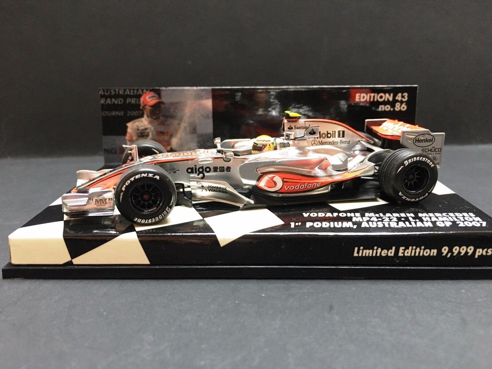 Minichamps - Lewis Hamilton - McLaren McLaren McLaren - MP4 22 - 2007 - 1st Podium Australian GP b98a0d