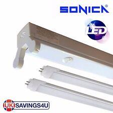 Sonica Twin 5ft 1500mm LED Batten Fitting Double Tube Light T8 Ceiling 22w