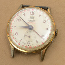 Vintage MEDANA Day Date Pointer Calendar 33mm Men's Dress Watch Cal 404 PARTS