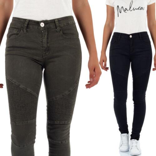 Malucas Damen Skinny Jeans Normaler Bund Hose Röhrenjeans Röhrenhose Stretch