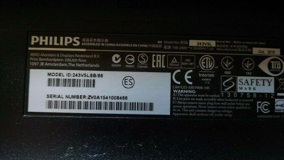 Philips, 243V5L, 24 tommer