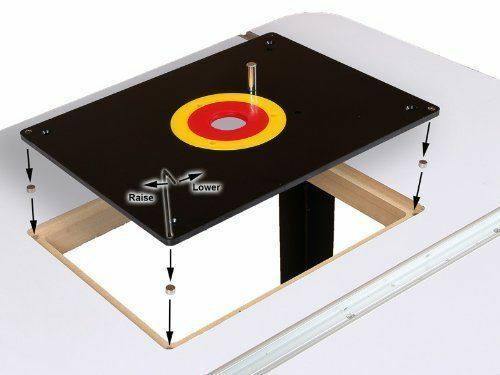 New Router Table Insert Plate 235 x 305 x 8mm with Rings For Woodworking