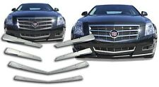 Chrome Grille Overlays Kit Compatible with 2008-2011 Cadillac CTS Coupe / Sedan