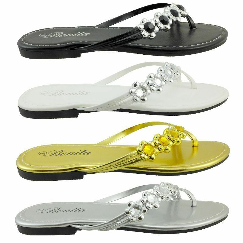 VENUS-06 Women Sandals Bling Shoes Sets Of Toe Flat Shoes Bling Flip Flops Size 5,6,7,8,9,10 e162d7