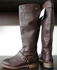 GAASTRA WHEELHOUSE Damen Leder Boots Echtleder Wadenhohe Stiefel Braun Gr.36 NEU