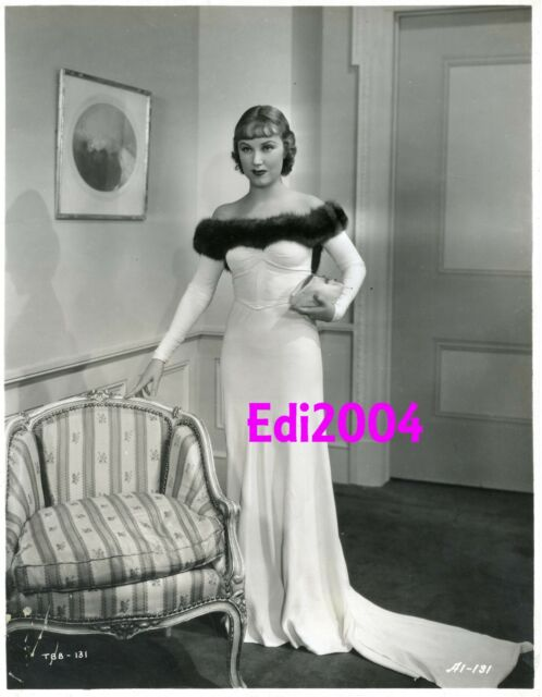 "FAY WRAY Vintage Original Photo ""QUEEN OF SCREAMS"" Busty Off-Shoulder RARE Gown"