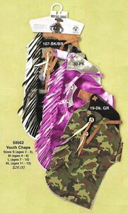 Kid-039-s-RODEO-CHAPS-Mutton-Bustin-Buster-CAMO-or-PINK-Vinyl