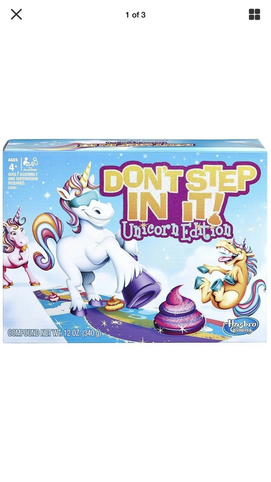 Hasbro Don't Step In It Game (Unicorn Edition )  Amazon Exclusive   In Hand