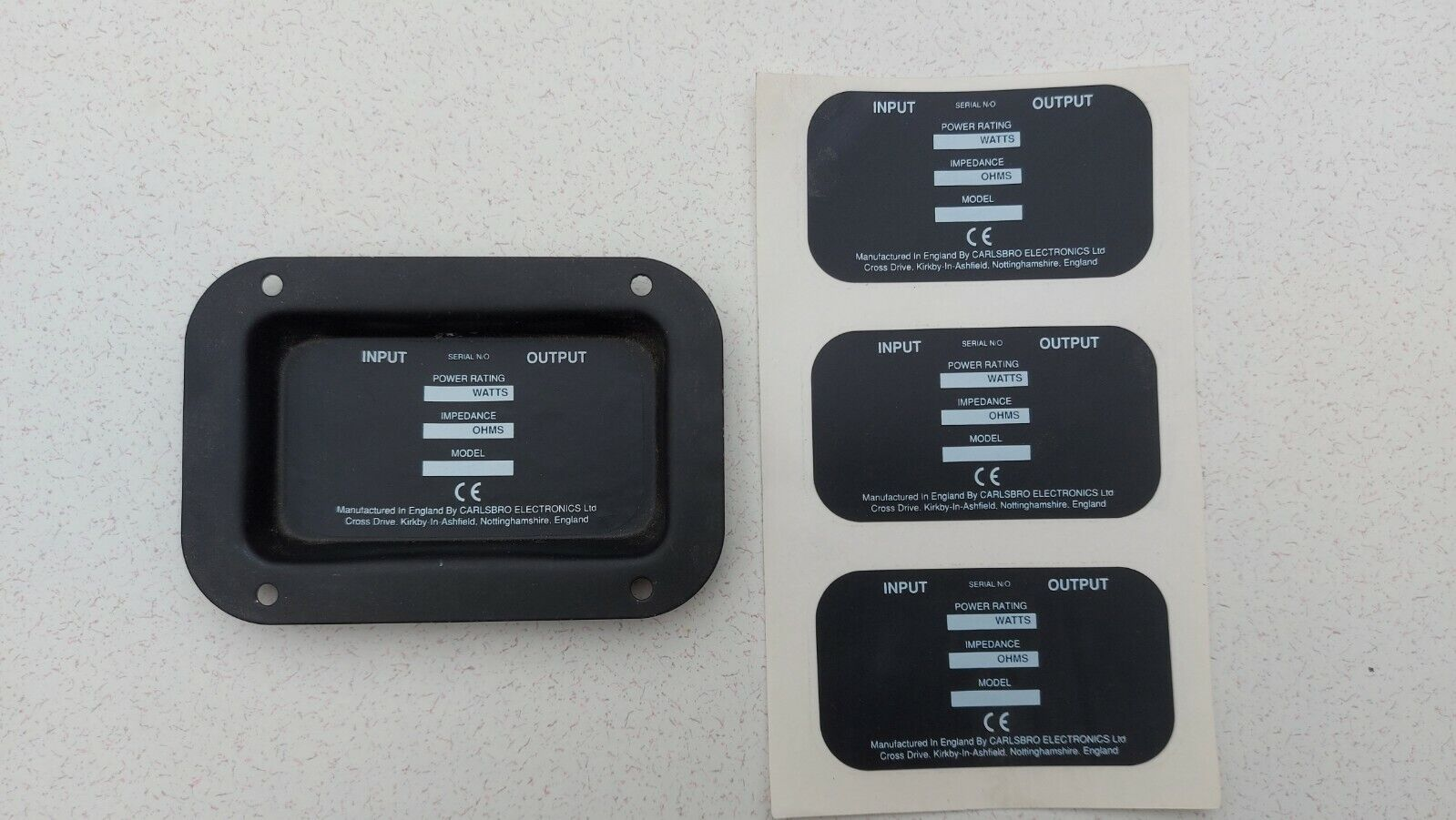 6 x Carlsbro Stickers for Fitting on Dual Output Speaker Back Plates