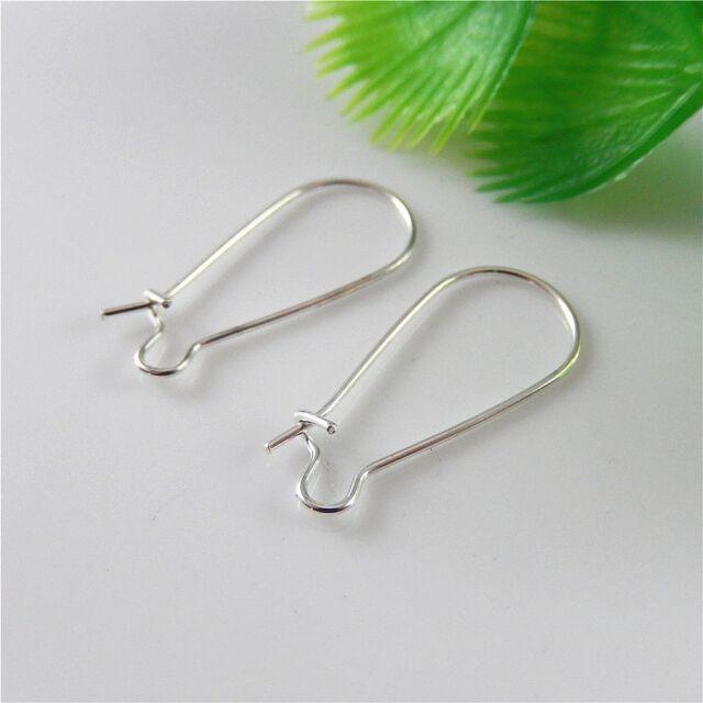 160pcs Silver Iron U Shaped Metal Ear Hook Clasp Earring Findings Jewelry Crafts