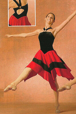 Fire Ice Lyrical Dance Dress Costume Salsa Tango Ballroom Child & Adult Sizes