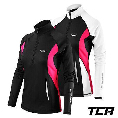 TCA Women/'s Winter Run Demi-Zip Manche Longue Running//Training Top
