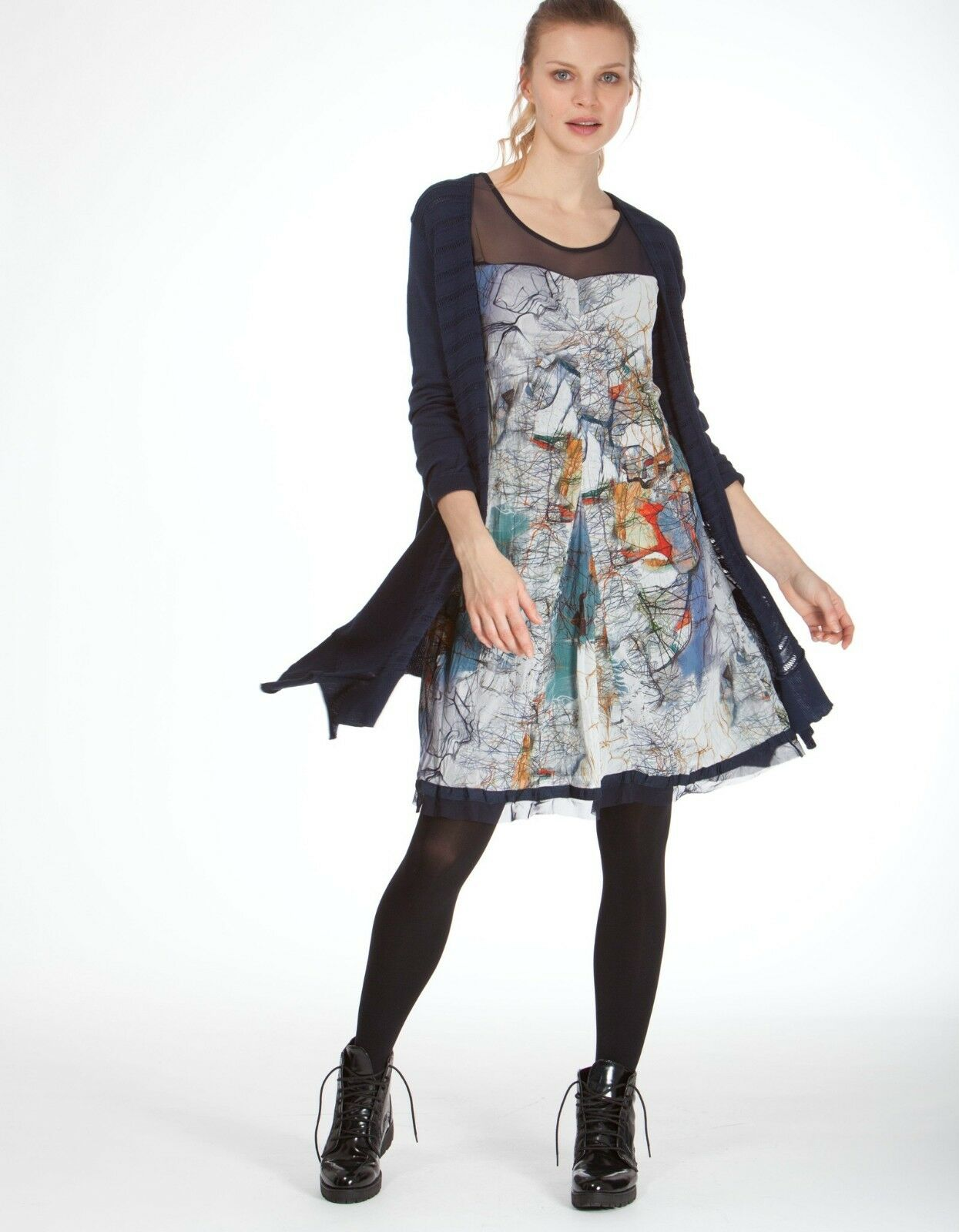 Beautiful Stylish Authentic size 2 DECA PARIS Dress RESA orig.