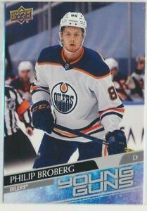 2020-21 Upper Deck Series 1 Young Guns JUMBO 204 Philip Broberg Oilers 4X6