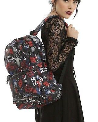 DC Comics Suicide Squad Harley Quinn Sketchy School Book Bag Backpack NWT!