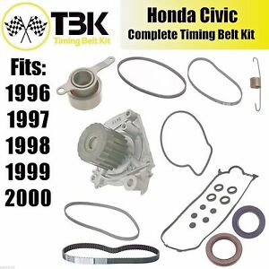 Image Is Loading Honda Civic COMPLETE Timing Belt Kit With Water