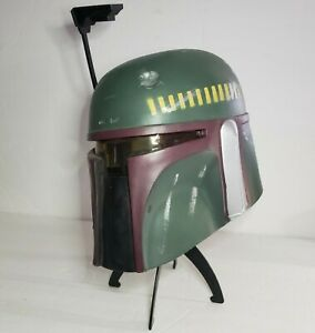 Rare-Vintage-Boba-Fett-Helmet-Full-Life-Size-Star-Wars-1997-with-Stand-Cosplay