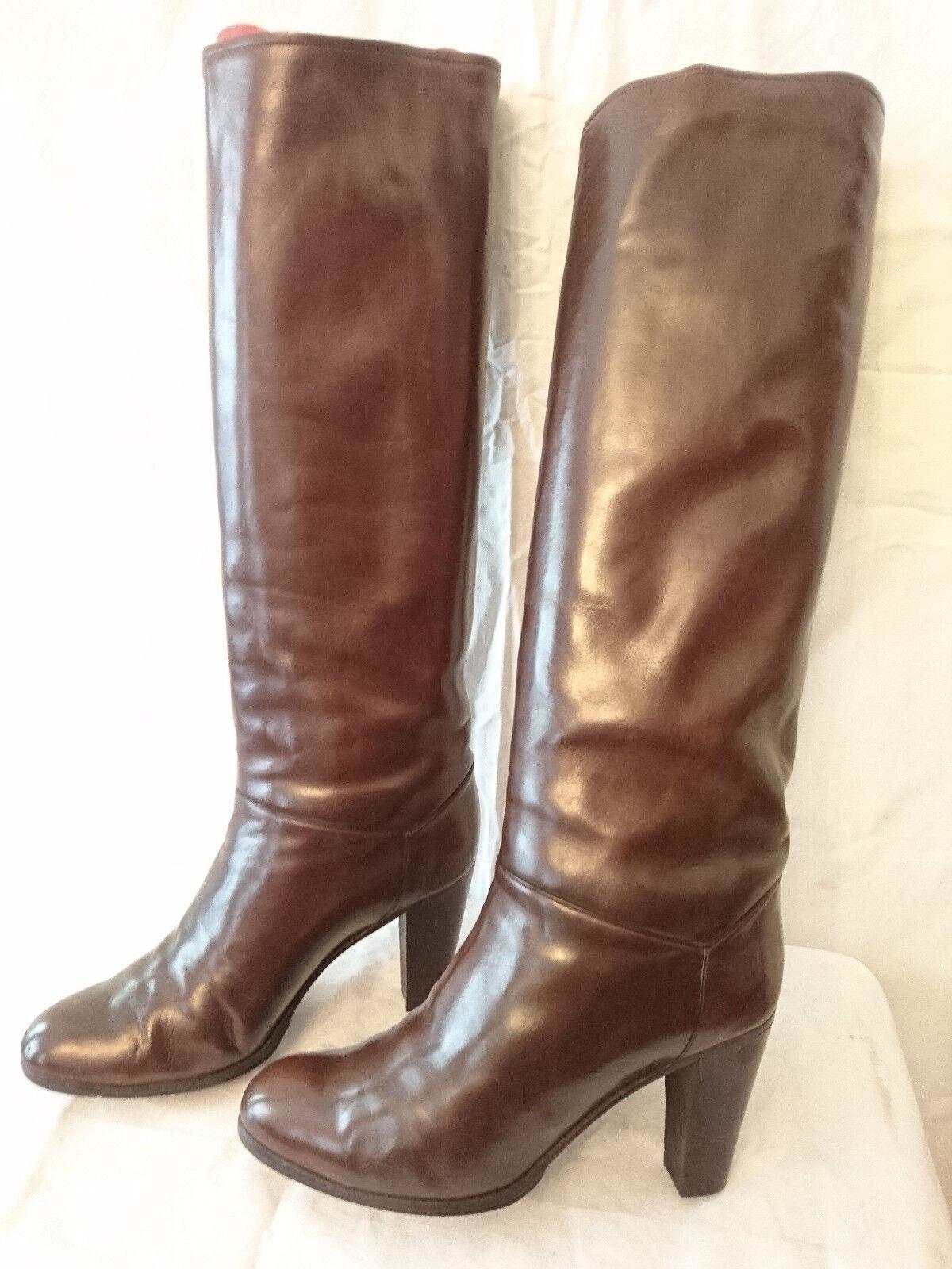 botas Vintage 1982   marrón marrón marrón   - JEAN BADY France  ---    T. 3,5  -  36,5  varios tamaños