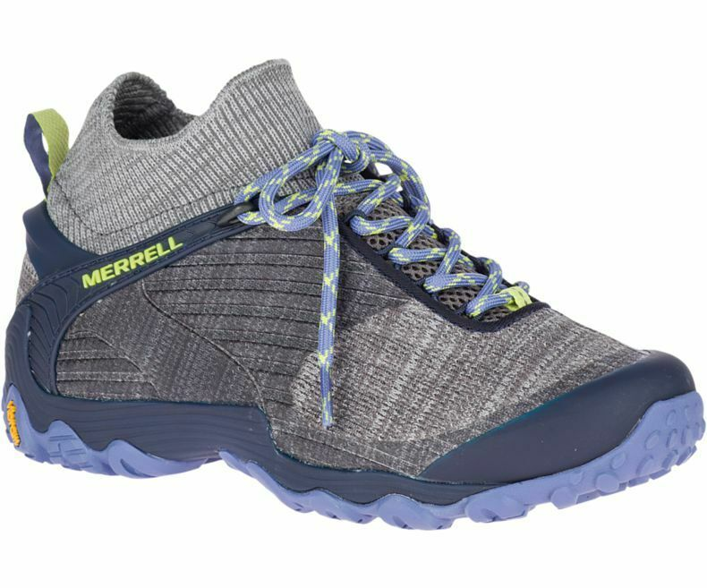 MW51 New Merrell Chameleon 7 Knit Mid Hiking Trail shoes Women 7 Charcoal & Navy