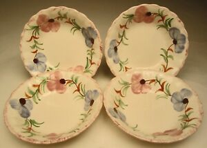 Vintage-Blue-Ridge-Dinnerware-Sweet-Pea-4-Cereal-Soup-Bowls-6-wide-8-ounces