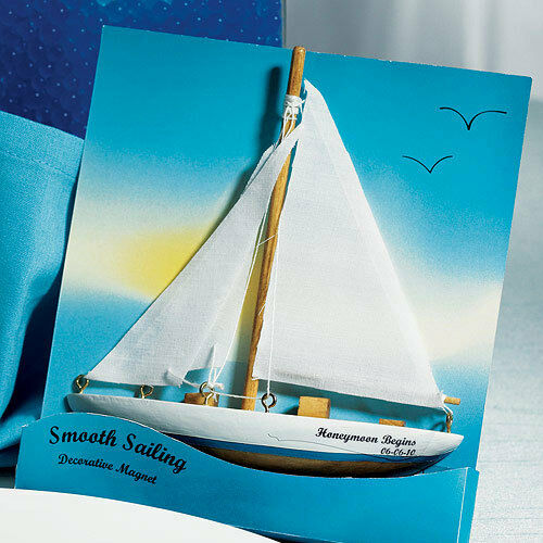 12 Personalized Smooth Sailing Magnets Bridal Shower Wedding Favors