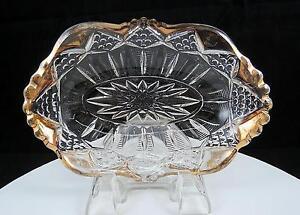 TARENTUM-GLASS-CO-EAPG-LADDERS-AND-DIAMONDS-GOLD-7-034-RELISH-DISH-1903