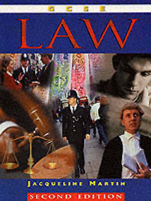 1 of 1 - GCSE Law 2nd Edition, Martin, Jacqueline, Very Good Book