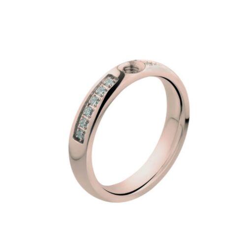 twisted by Melano Ring Größe 60 rosé mit Steine besetzt M 01R5010 RG CZ