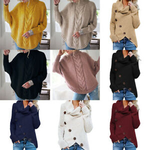 Women/'s Knitted Cape Cardigan Sweater Batwing Long Sleeve Coat Outwear Pullover#