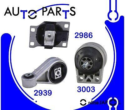 2000-2004 Ford Focus 2.0 DOHC Engine Motor /& Trans Mount Set  3pcs Kit FITS