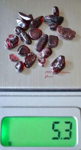 Tumbled Polished Gemstone Crystal Natural Garnet 5g Tiny Small