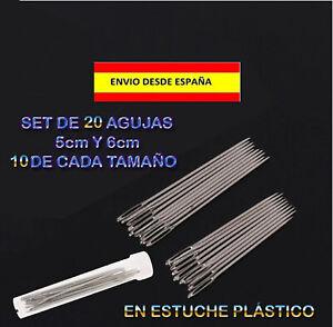 20-AGUJAS-DE-COSTURA-EN-2-TAMANOS-DIFERENTES-CUERO-LONA-PLASTICO-MUY-RESISTENTES