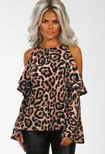 c008ba7bd065ec item 1 Women Cold Shoulder Ruffle Tops Leopard Print Long Sleeve Sexy Blouse  T Shirt US -Women Cold Shoulder Ruffle Tops Leopard Print Long Sleeve Sexy  ...