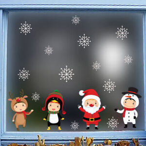 Christmas-Sticker-Window-Removable-Santa-Snowman-Decal-New-Year-Glass-Decor-h