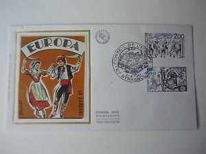 ENVELOPPE-1er-JOUR-FDC-SOIE-1981-EUROPA-2TP-1-40-amp-2-00-OBLIT-ILLUST-STRASBOURG