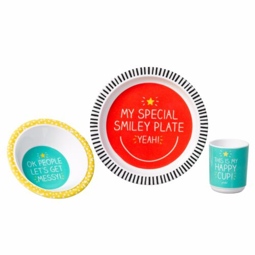 Feeding Set Happy Jackson Smiley Melamine Dinner Set